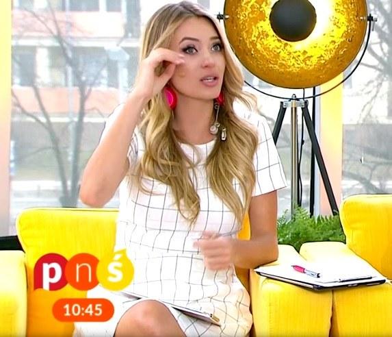 """Marcelina Zawadzka w programie """"Pytanie na śniadanie"""" /TVP / Pytanie na śniadanie /materiał zewnętrzny"""