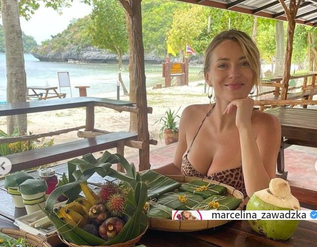 Marcelina Zawadzka w stroju kąpielowym w panterkę prezentuje się rewelacyjnie /Instagram/Marcelina Zawadzka /Instagram