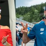 Marcelina Zietek dopinguje Żyłę na zawodach w Wiśle. Zaprezentowała aż dwie stylizacje