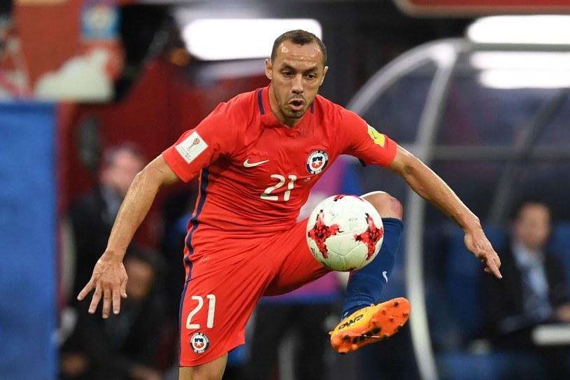 Marcelo Diaz popełnił fatalny błąd w finale Pucharu Konfederacji z Niemcami /AFP