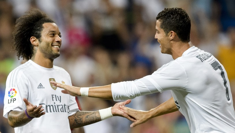 Marcelo i Crisitano Ronaldo cieszą się z gola /AFP