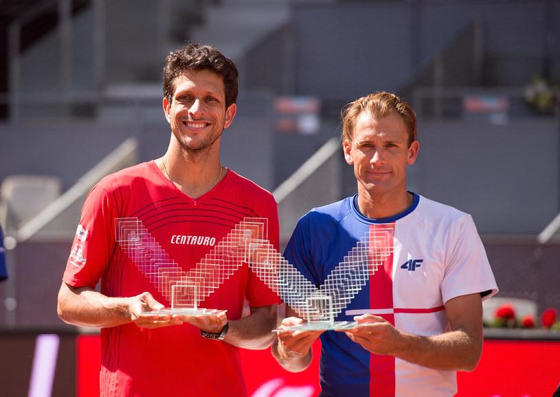Marcelo Melo (z lewej) i Łukasz Kubot po zwycięstwie w tym roku w Madrycie /Denis Doyle /Getty Images