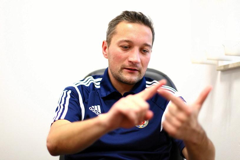 Marcin Broniszewski, trener Wisły Kraków /Jakub Ociepa /