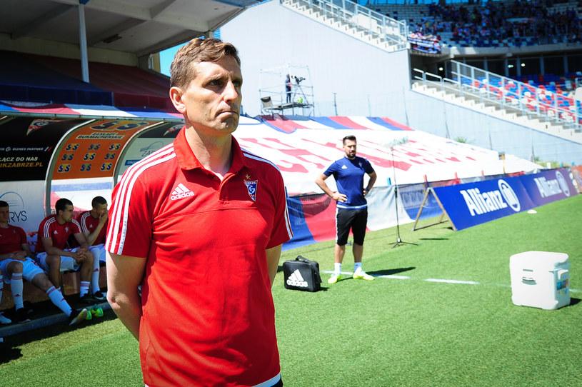 Marcin Brosz, trener Górnika /Krzysztof Dzierżawa /Newspix