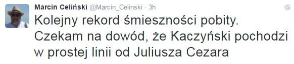 Marcin Celiński na Twitterze /Twitter