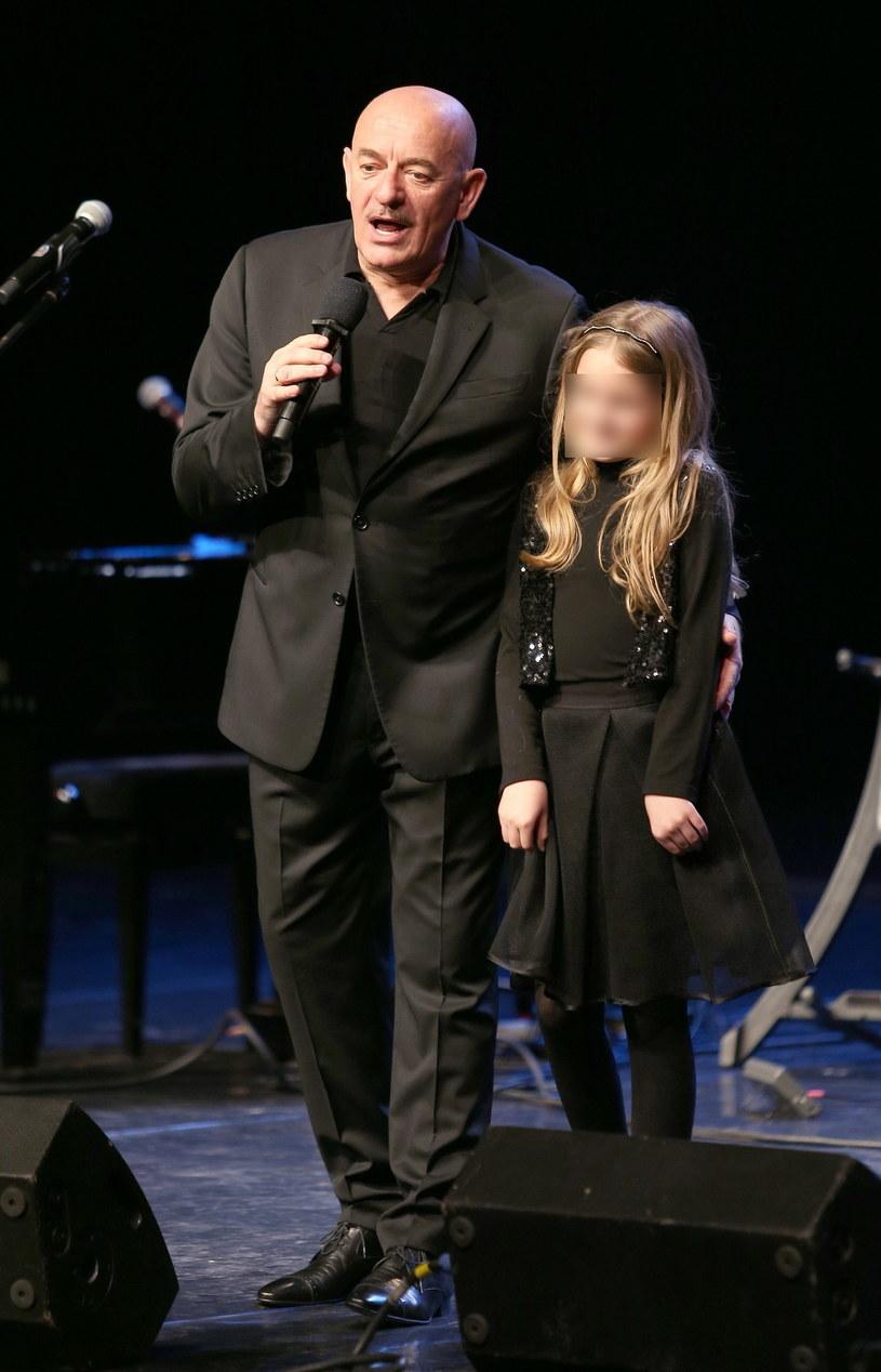 Marcin Daniec z córką, 2016 rok /Damian Klamka /East News