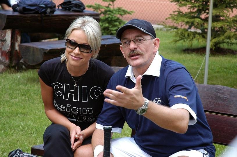 Marcin Daniec z żoną Dominiką /East News