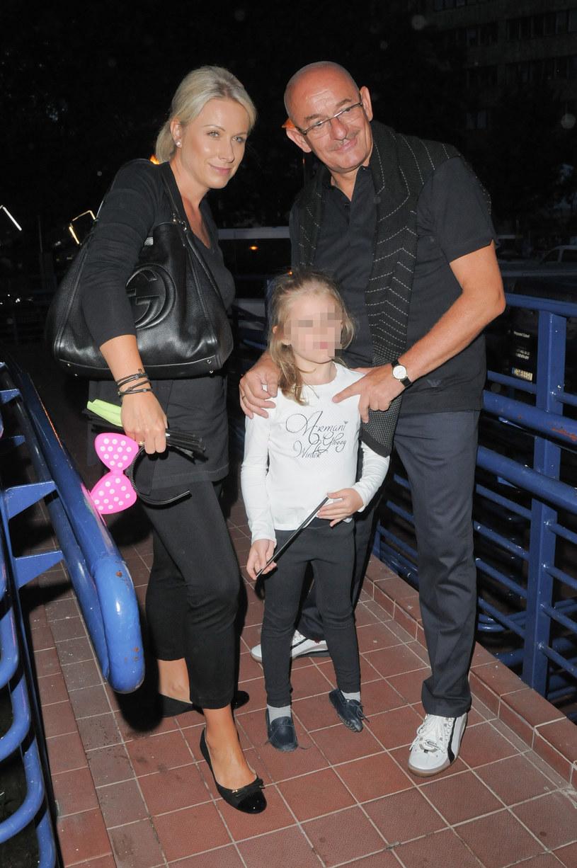 Marcin Daniec z żoną i córką, 2013 rok /Teodor Ryszkus /Agencja FORUM