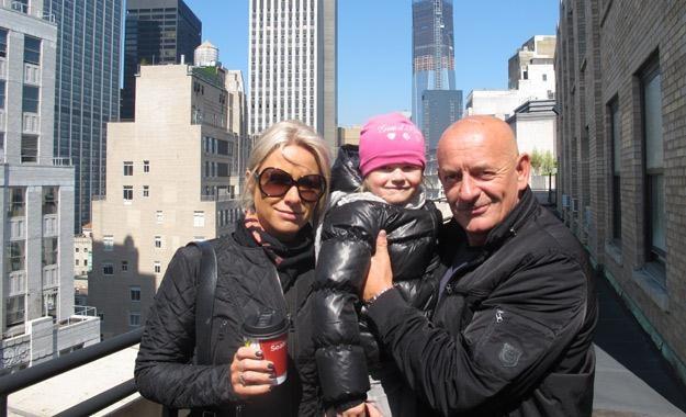 Marcin Daniec z żoną i córką w USA, fot. Super Express USA /