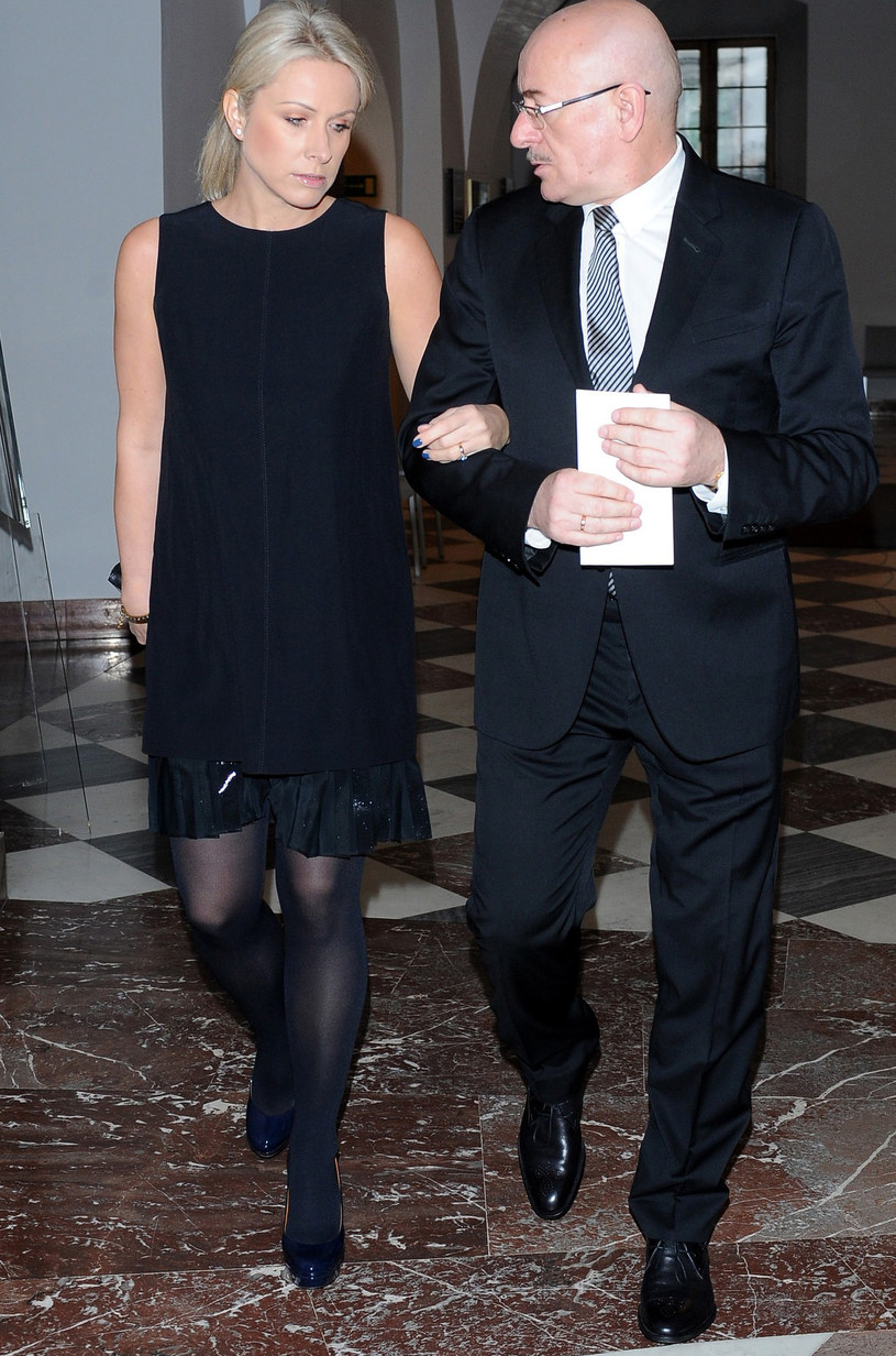 Marcin Daniec z żoną /East News