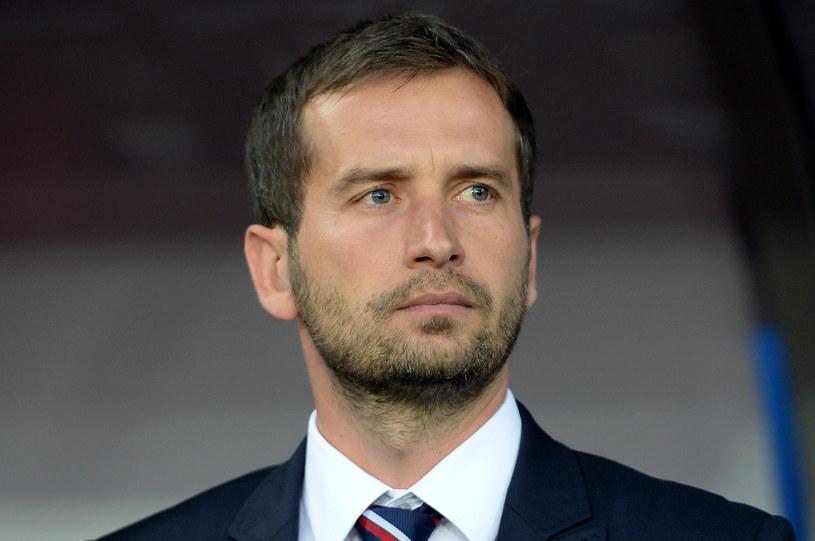 Marcin Dorna podczas meczu Polska - Anglia. /Piotr Polak /PAP
