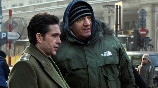 """Marcin Dorociński i Władysław Pasikowski na planie filmu """"Jack Strong"""" /materiały dystrybutora"""