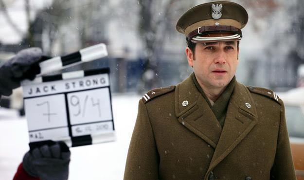 "Marcin Dorociński na planie filmu ""Jack Strong"", fot. Marcin Makowski /materiały dystrybutora"