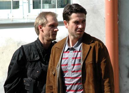 """Marcin Dorociński na planie trzeciej serii """"Pitbulla"""" /MWMedia"""
