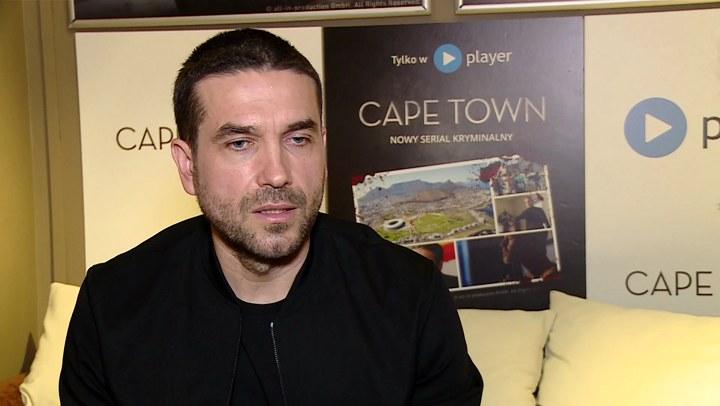 "Marcin Dorociński opowiada o serialu ""Cape Town"". /Newseria Lifestyle"