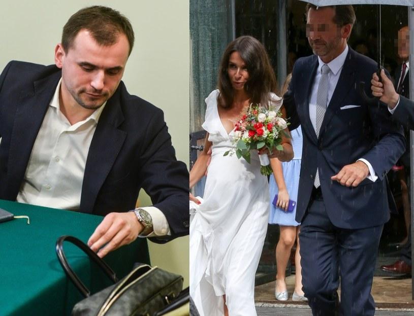 Marcin Dubieniecki i Marta z nowym mężem (EastNews;newspix.pl) /East News