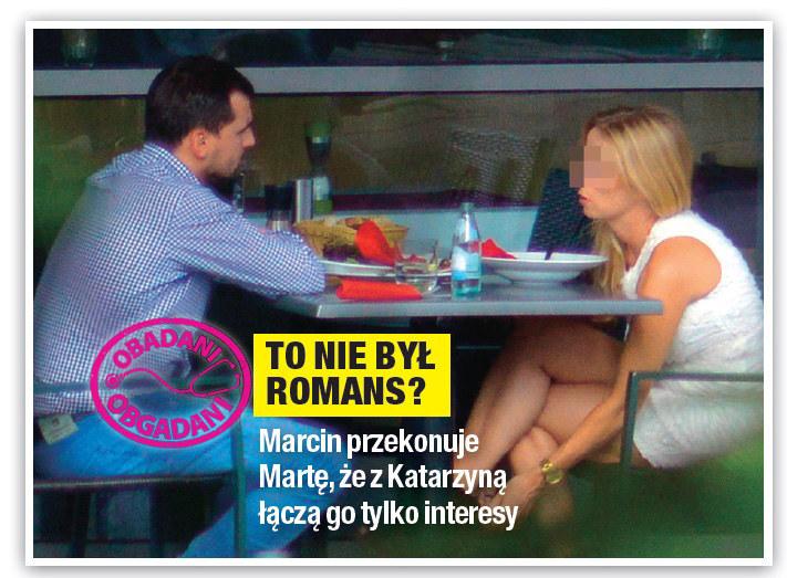 Marcin Dubieniecki na obiedzie z Katarzyną /Na żywo