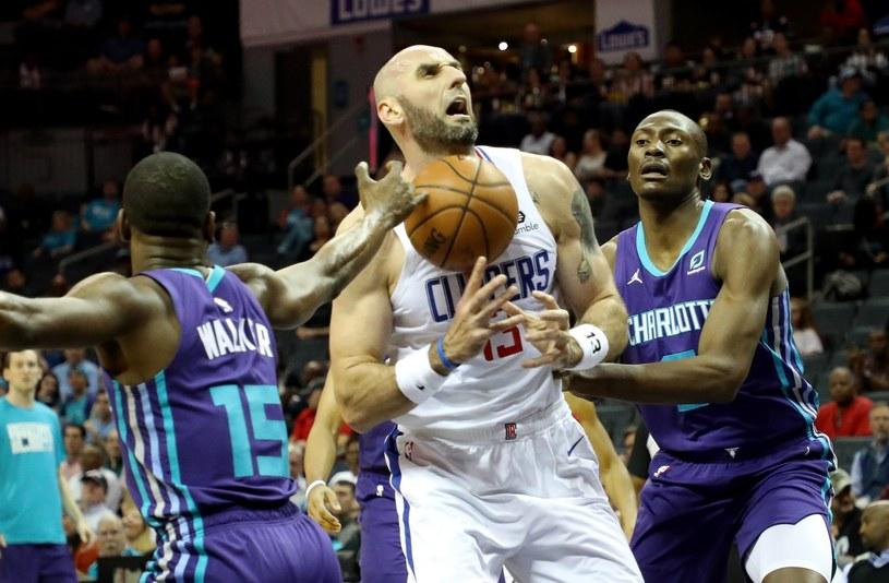 Marcin Gortat jeszcze w barwach LA Clippers /AFP