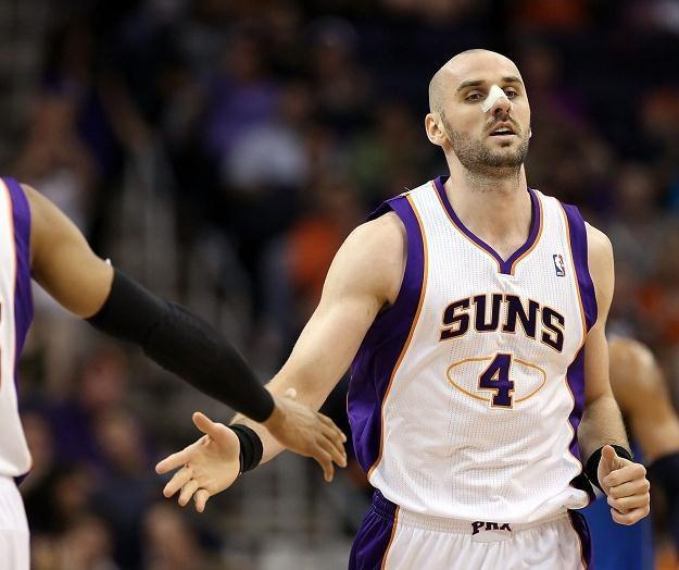 Marcin Gortat ponownie był najskuteczniejszym zawodnikiem w szeregach Phoenix Suns /AFP
