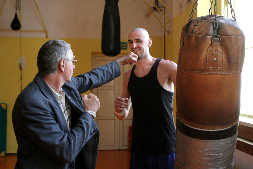 Marcin Gortat z ojcem bokserem Januszem Gortatem /Bławicki /East News