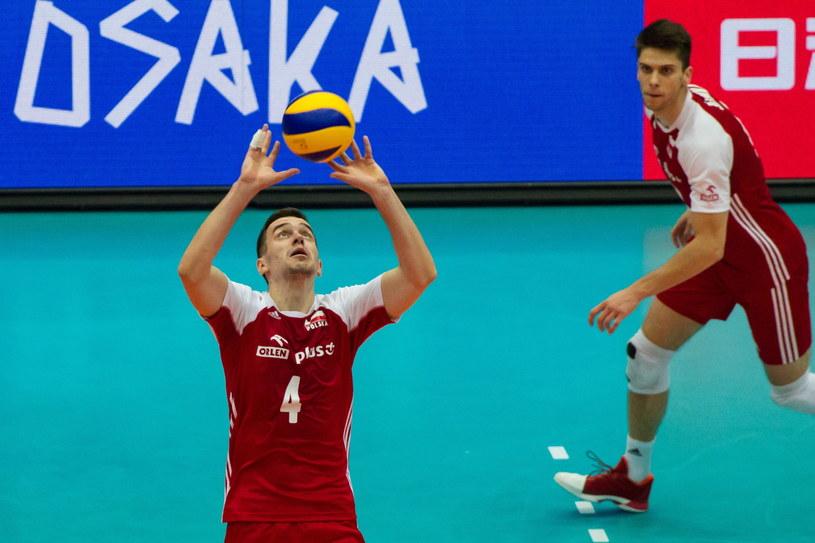 Marcin Komenda w meczu z Japonią w Osace /Jacek Kostrzewski /PAP