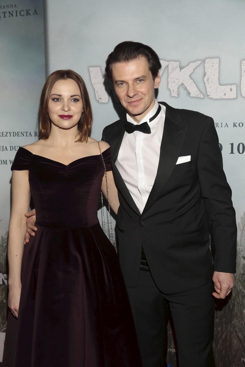 Marcin Kwaśny z żoną Dianą, 2017 rok /Adam Jankowski /Reporter