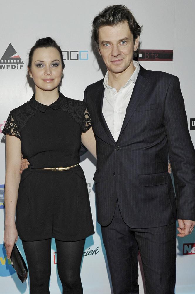 Marcin Kwaśny z żoną Dianą /Niemiec /AKPA