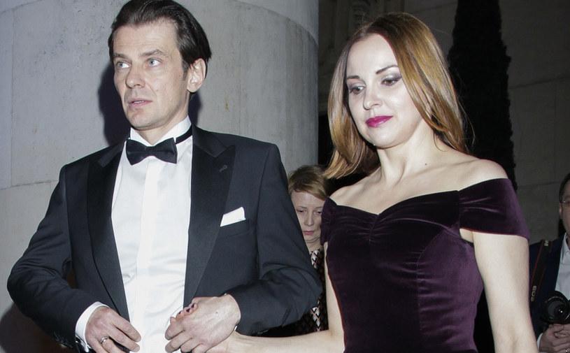 Marcin Kwaśny z żoną /AKPA