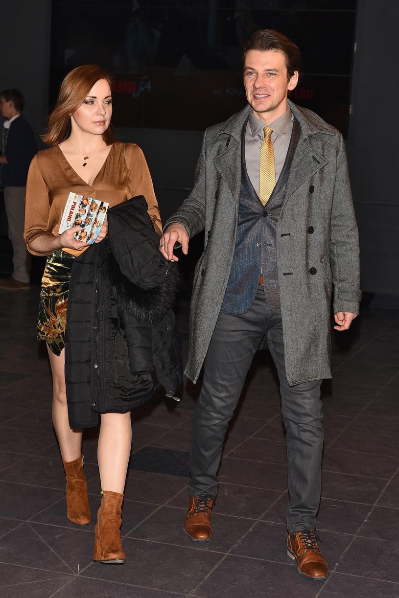Marcin Kwaśny z żoną /VIPHOTO /East News