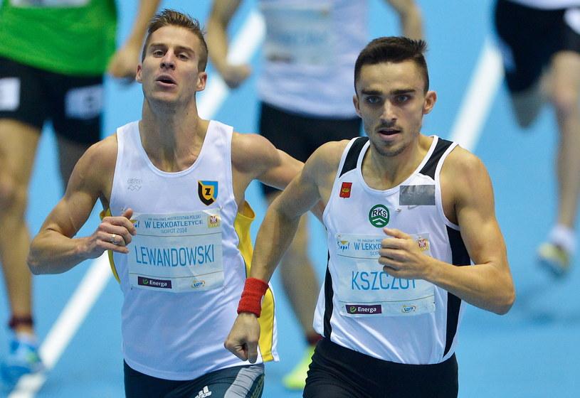 Marcin Lewandowski (z lewej) i Adam Kszczot /Fot. Adam Warżawa /PAP