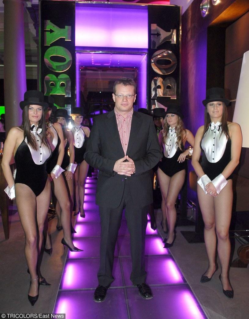 """Marcin Meller z kroliczkami """"Playboya"""" /Tricolors /East News"""