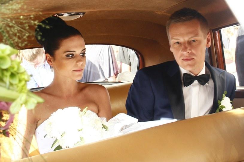 Marcin Mroczek z żoną Marleną /East News