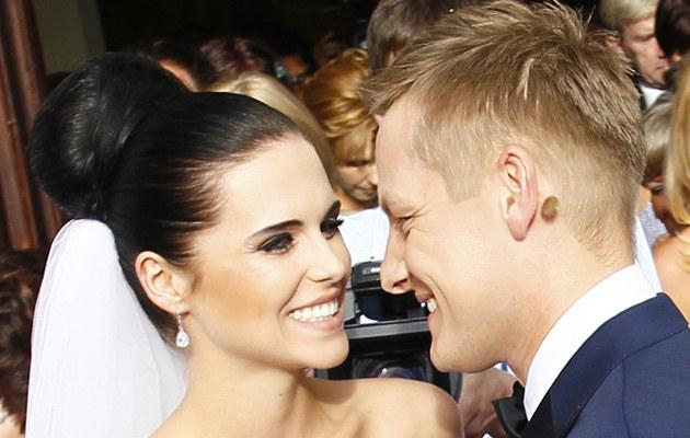 Marcin Mroczek z żoną /Agencja SE /East News