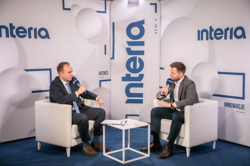 Marcin Nedwidek, prezes Uniqa Polska w studiu Interii /Ireneusz Rek /INTERIA.PL
