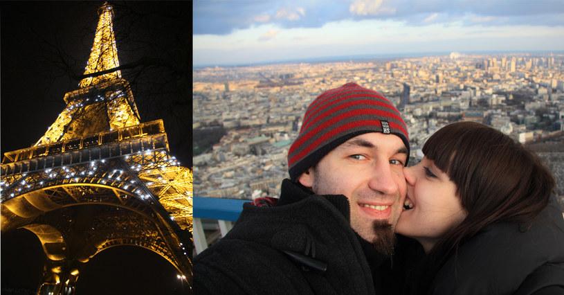 Marcin oświadczył się Joannie na Wieży Eiffla  /Archiwum