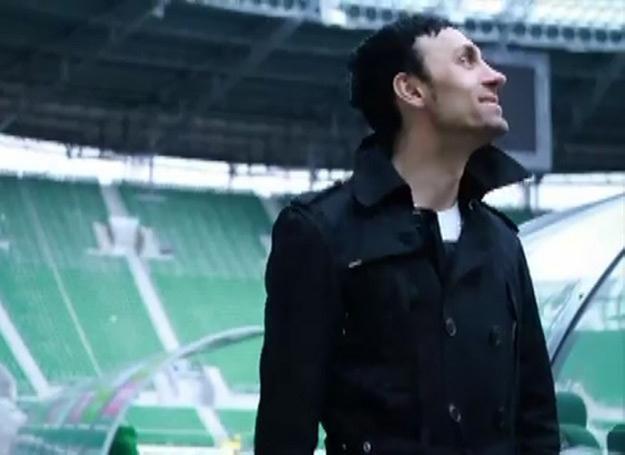 Marcin Piórecki na stadionie we Wrocławiu /