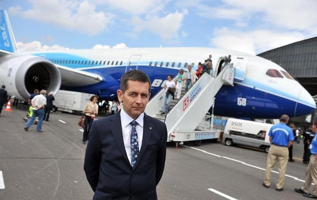 Marcin Piróg, poprzedni prezes LOT-u. Fot Lech Gawuc /Reporter
