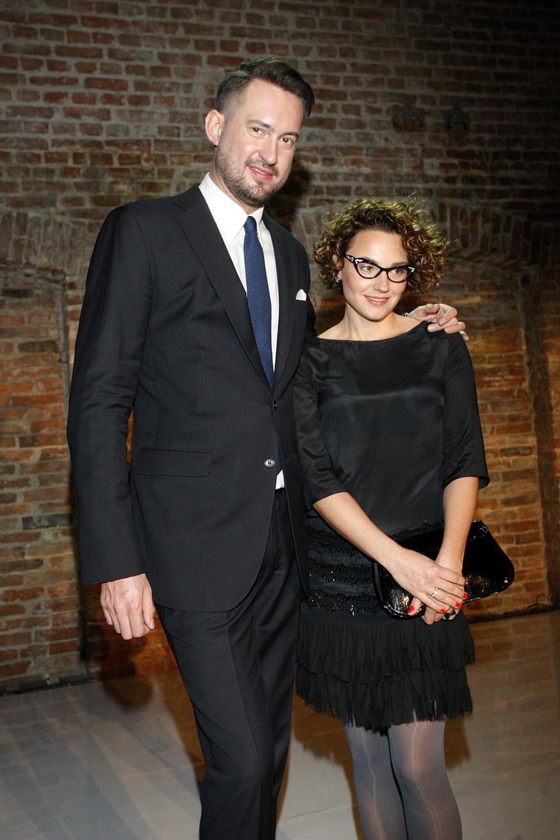 Marcin Prokop z żoną Marią /Adam Guz /Reporter