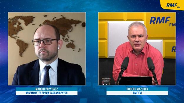 Marcin Przydacz i Robert Mazurek /Piotr Szydłowski /RMF FM