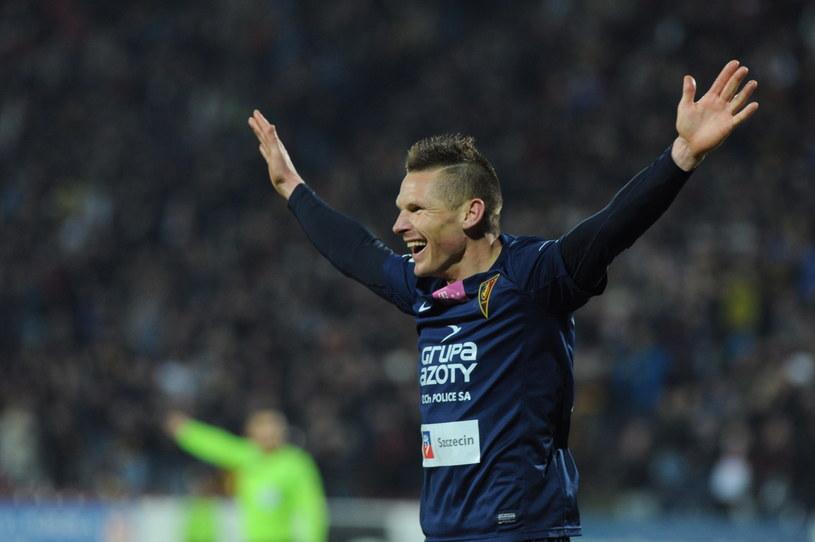 Marcin Robak to bez wątpienia bohater 23. kolejki T-Mobile Ekstraklasy /Fot. Marcin Bielecki /PAP