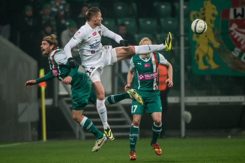 Marcin Robak zdobył bramkę dla Pogoni Szczecin /Maciej Kulczyński /PAP