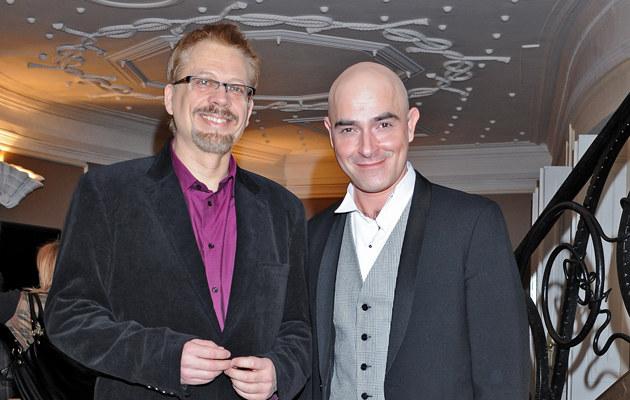 Marcin Szczygielski z partnerem Tomaszem Raczkiem, fot.Andras Szilagyi  /MWMedia
