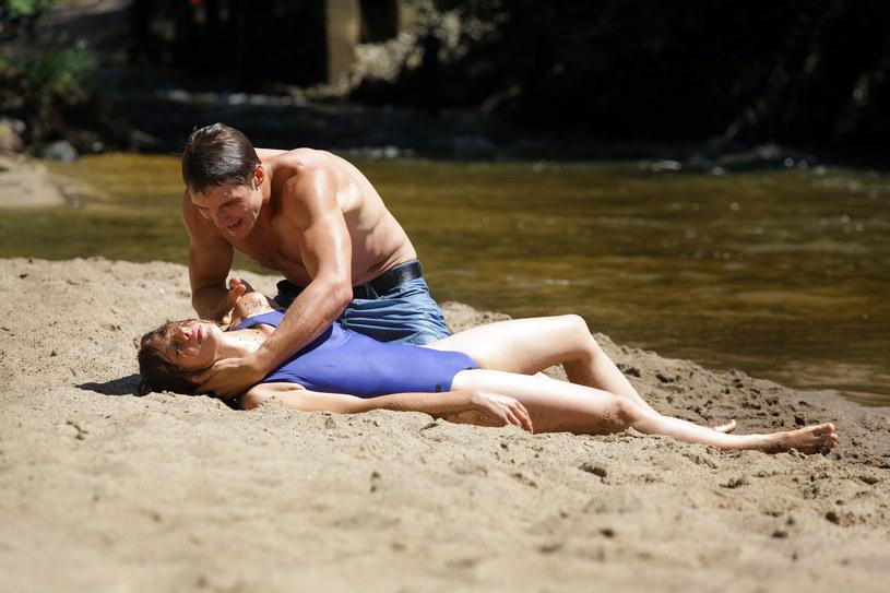 Marcin uratuje Erykę i... zakocha sie w niej! /Agencja W. Impact