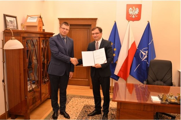 Marcin Warchoł powołany na stanowisko Podsekretarza Stanu w Ministerstwie Sprawiedliwości. Zdjęcie z 2015 roku /Ministerstwo Sprawiedliwości /
