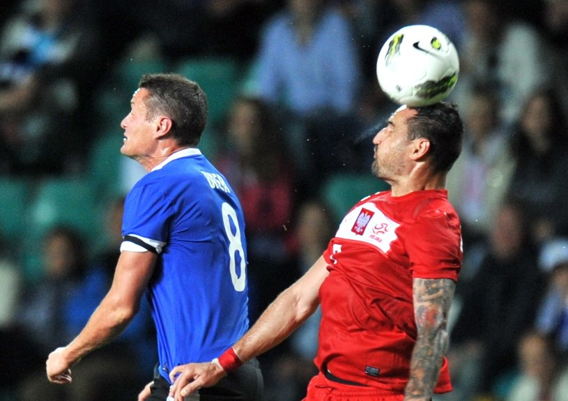 Marcin Wasilewski w meczu z Estonią /AFP