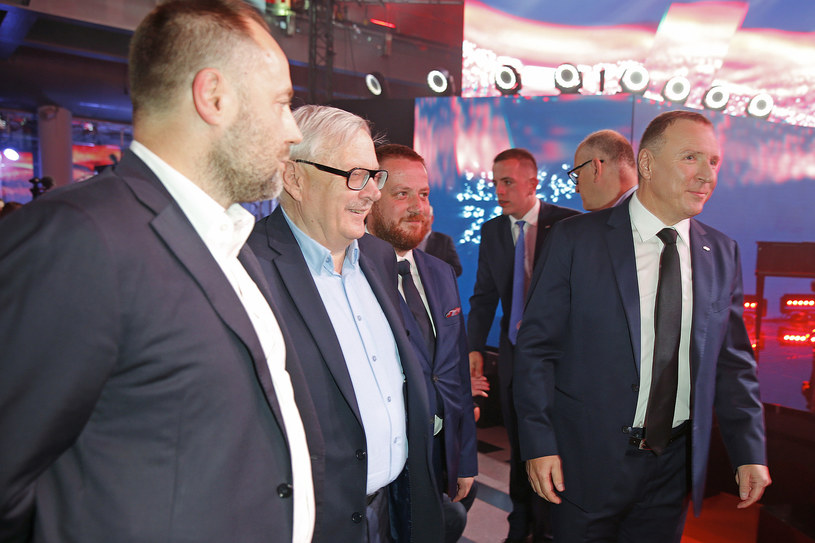 Marcin Wolski i Jacek Kurski na ramówce TVP (2017) /AKPA