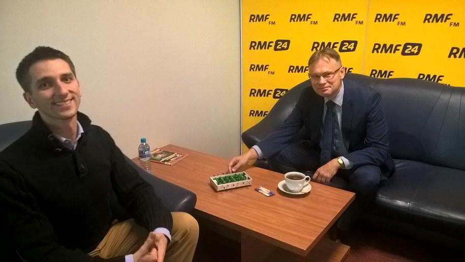 Marcin Zaborski i jego gość Arkadiusz Mularczyk /Karol Pawłowicki /RMF FM