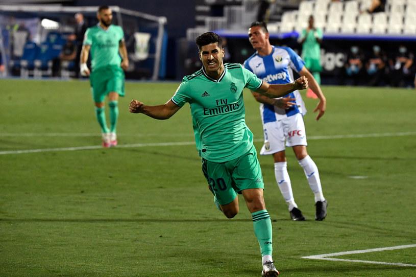 Marco Asensio celebruje gola w meczu z Leganes /PIERRE-PHILIPPE MARCOU /AFP