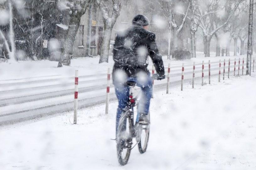 Marcowy atak zimy (Łódź) /Piotr Kamionka /Reporter