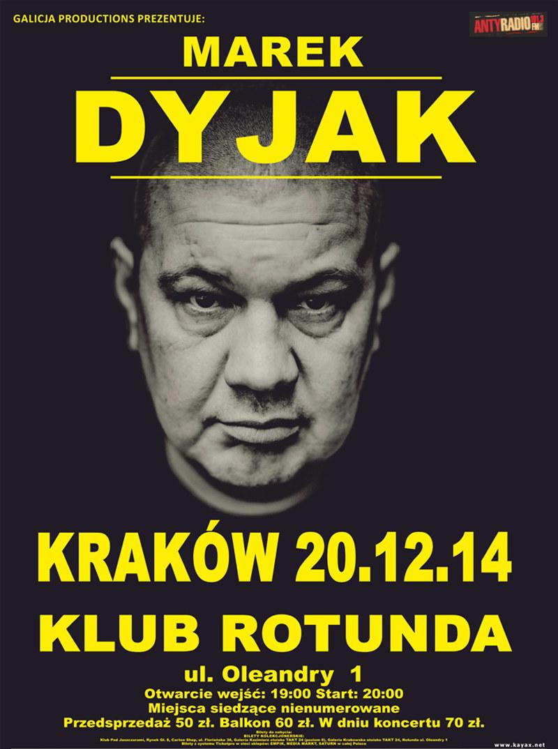 Marek Dyjak zagra koncert w Krakowie 20 grudnia /materiały prasowe